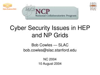 Cyber Security Issues in HEP and NP Grids