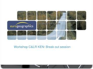 Workshop C&LR KEN: Break out session