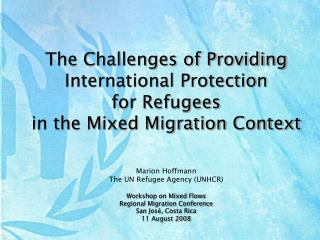 The Challenges of Providing International Protection  for Refugees  in the Mixed Migration Context