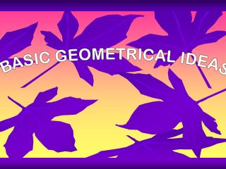 BASIC GEOMETRICAL IDEAS