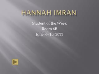 HANNAH IMRAN