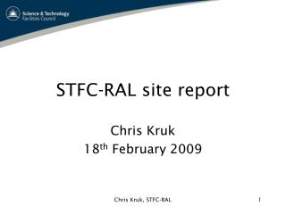 STFC-RAL site report