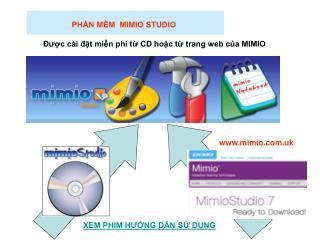 PHẦN MỀM  MIMIO STUDIO