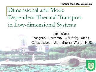 Dimensional and Mode Dependent Thermal Transport in Low-dimensional Systems