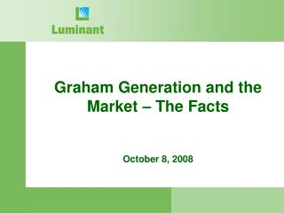 Graham Generation and the Market – The Facts October 8, 2008