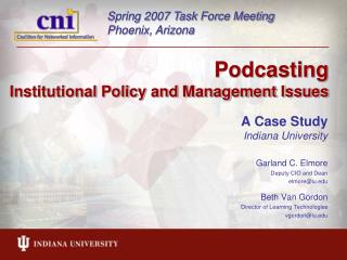 Podcasting  Institutional Policy and Management Issues