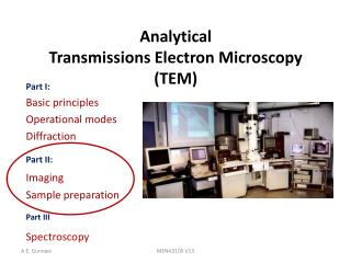 Analytical  Transmissions Electron Microscopy (TEM)