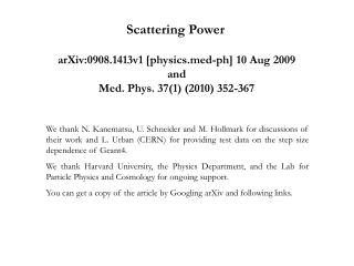Scattering Power