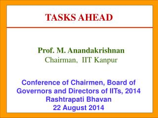 Conference of Chairmen, Board of Governors and Directors of IITs, 2014 Rashtrapati Bhavan