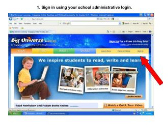 1. Sign in using your school administrative login.