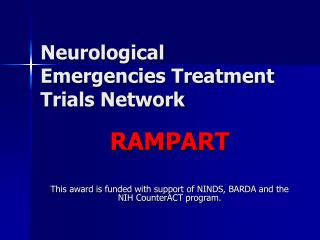 Neurological Emergencies Treatment Trials Network