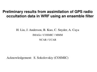 Acknowledgement:  S. Sokolovskiy (COSMIC)