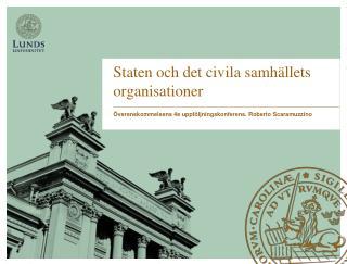 Staten och det civila samhällets organisationer