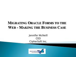 Jennifer McNeill CEO CipherSoft  Inc.