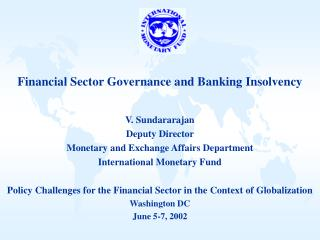 Financial Sector Governance and Banking Insolvency