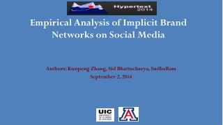 Empirical Analysis of Implicit Brand Networks on Social Media