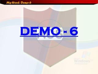DEMO - 6