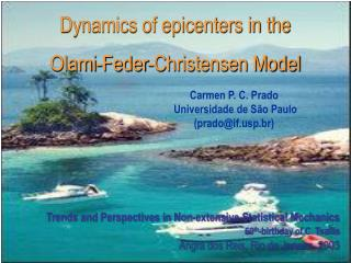 Dynamics of epicenters in the  Olami-Feder-Christensen Model