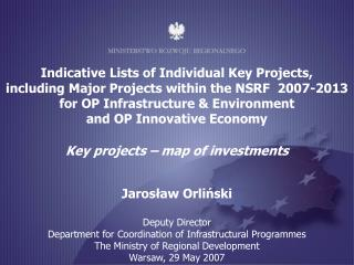 Indicative Lists of Individual Key Projects,