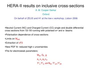 HERA-II results on inclusive cross-sections