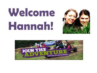 Welcome Hannah!