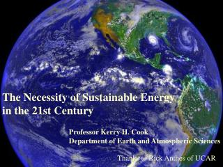 The Necessity of Sustainable Energy in the 21st Century