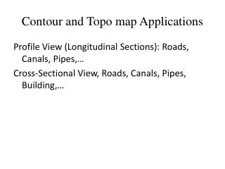 Contour and Topo map Applications