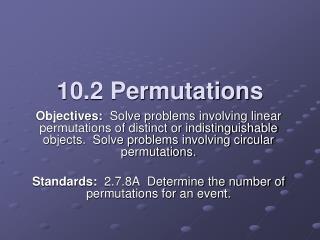 10.2 Permutations