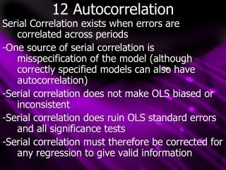 12 Autocorrelation