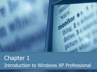 Introduction to Windows XP Professional