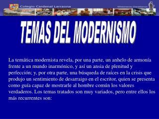 TEMAS DEL MODERNISMO