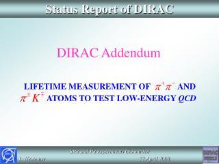 Status Report of DIRAC