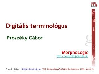 Digitális terminológus