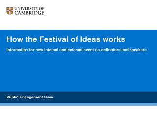 How the Festival of Ideas works
