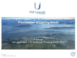 Prioritization of Cabling Needs