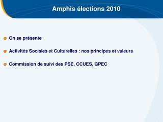 Amphis élections 2010