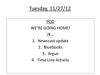Tuesday, 11/27/12
