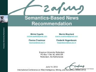 Semantics-Based News Recommendation