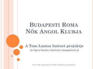 Budapesti Roma Nők Angol Klubja