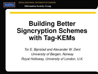 Building Better Signcryption Schemes with Tag-KEMs