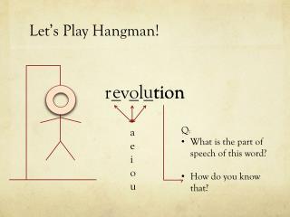 Let�s Play Hangman!