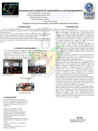 IV. PRODUCTOS ENTREGABLES