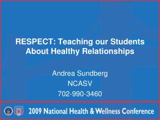 RESPECT: Teaching our Students About Healthy Relationships