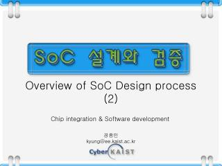 Overview of SoC Design process (2)