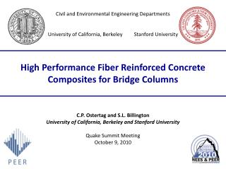 High Performance Fiber Reinforced Concrete Composites for Bridge Columns