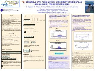 P2.1  ENSEMBLE DATA ASSIMILATION: EXPERIMENTS USING NASA'S GEOS COLUMN PRECIPITATION MODEL