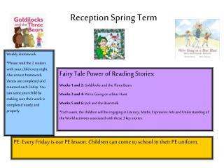 Reception Spring Term