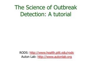 The Science of Outbreak Detection: A tutorial