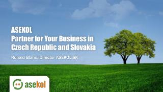 ASEKOL Partner for Your Business in Czech Republic and Slovakia