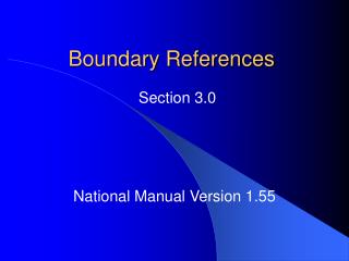 Boundary References
